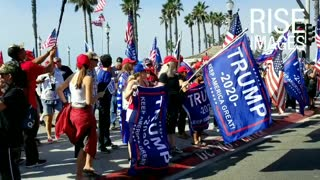 Hunting Beach California. Trump rally. Halloween
