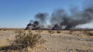 Military Plane Comes Crashing Down in Desert