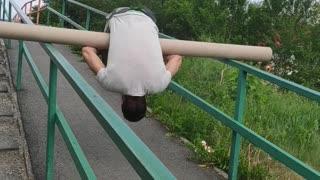 Man Turns Ramp Into Rotational Ride