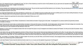 Trump shares letter from John Dowd on Twitter
