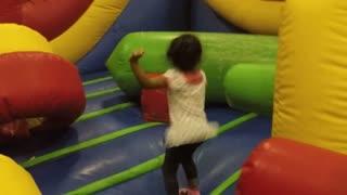 Blasian Baby Sister Bounce House!