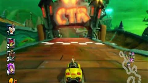 Thunder Struck Nintendo Switch Gameplay - Crash Team Racing Nitro-Fueled