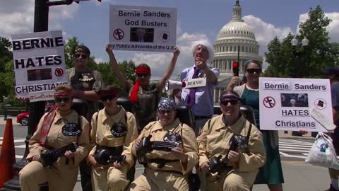 Bernie Sanders GodBusters on the Streets Inauguration Parody