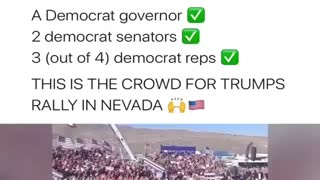 Trumps crowd at Nevada rally