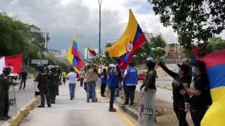 Manifestación en Bucaramanga y el área por el Paro Nacional
