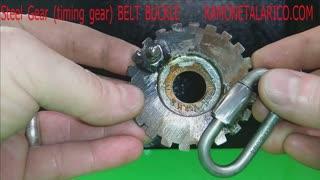 Steel gear belt buckle RT ARTISAN WORKS
