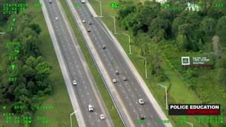 Police Helicopter - Reckless High Speed Chase and K9 Take Down