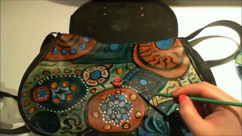 DIY Painted Purse Tutorial