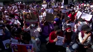 Myanmar youth protest after woman critically shot