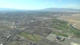 Approach into Las Vegas