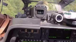 Apache Helicopter river flight