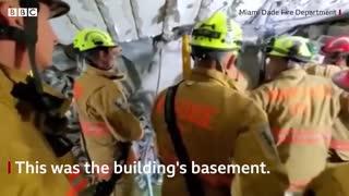 Miami building collapse: Firefighters search rubble