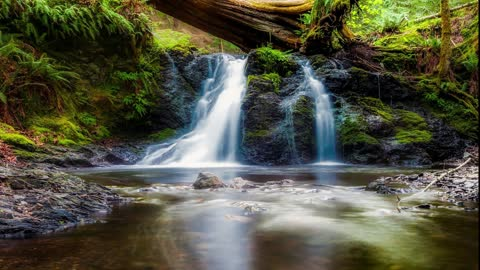 Video of pictures of waterfalls