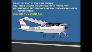 Hilarious Exchange between Student Pilot and Controller