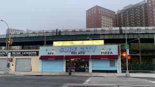 Surf City and New York City Subway Next to the Cyclone In Coney Island