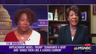 Maxine Waters calls for Trump to be charged