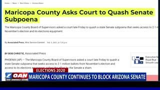 Maricopa County continues to block Ariz. Senate