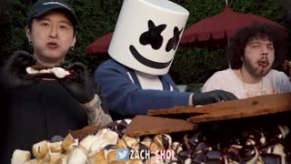 ASMR WORLD'S LARGEST S'MORE MUKBANG with MARSHMELLO & BENNY BLANCO - COOKING & EATING SOUNDS