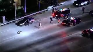 Police Take Down Suspect After Night Pursuit