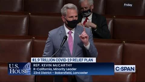 Kevin McCarthy TORCHES Pelosi for Corrupt COVID Relief Bill