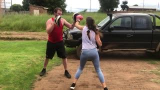 Nika boxing training