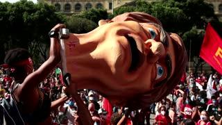Protests in Brazil over Bolsonaro's COVID response