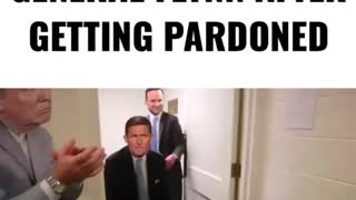 General Mike Flynn after getting pardoned