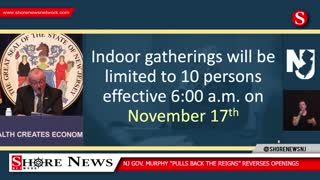 NJ Governor Murphy Orders 10 Person Limit for Thanksgiving