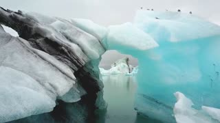 Beginner drone pilot crashes into majestic iceberg