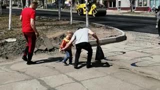 Road repair.