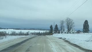Dicey roads in northern Maine