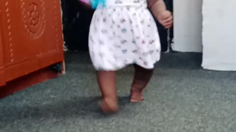 My baby walking