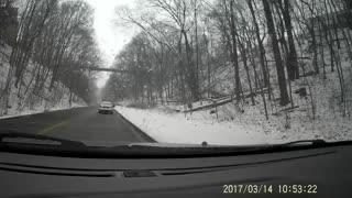 Dashcam - Snow Drive