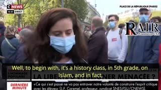 French Teacher threatened by ISIS