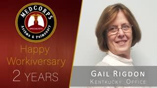 Happy 2 year work anniversary to Gail Rigdon