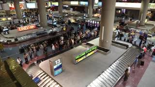 Baggage claim at Las vegas airport teminal 1.