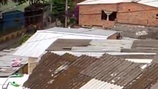 Protestas en el norte de Bucaramanga por ayudas humanitarias.