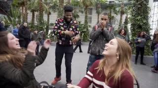 Freestyle Rapper Performs for Random Strangers
