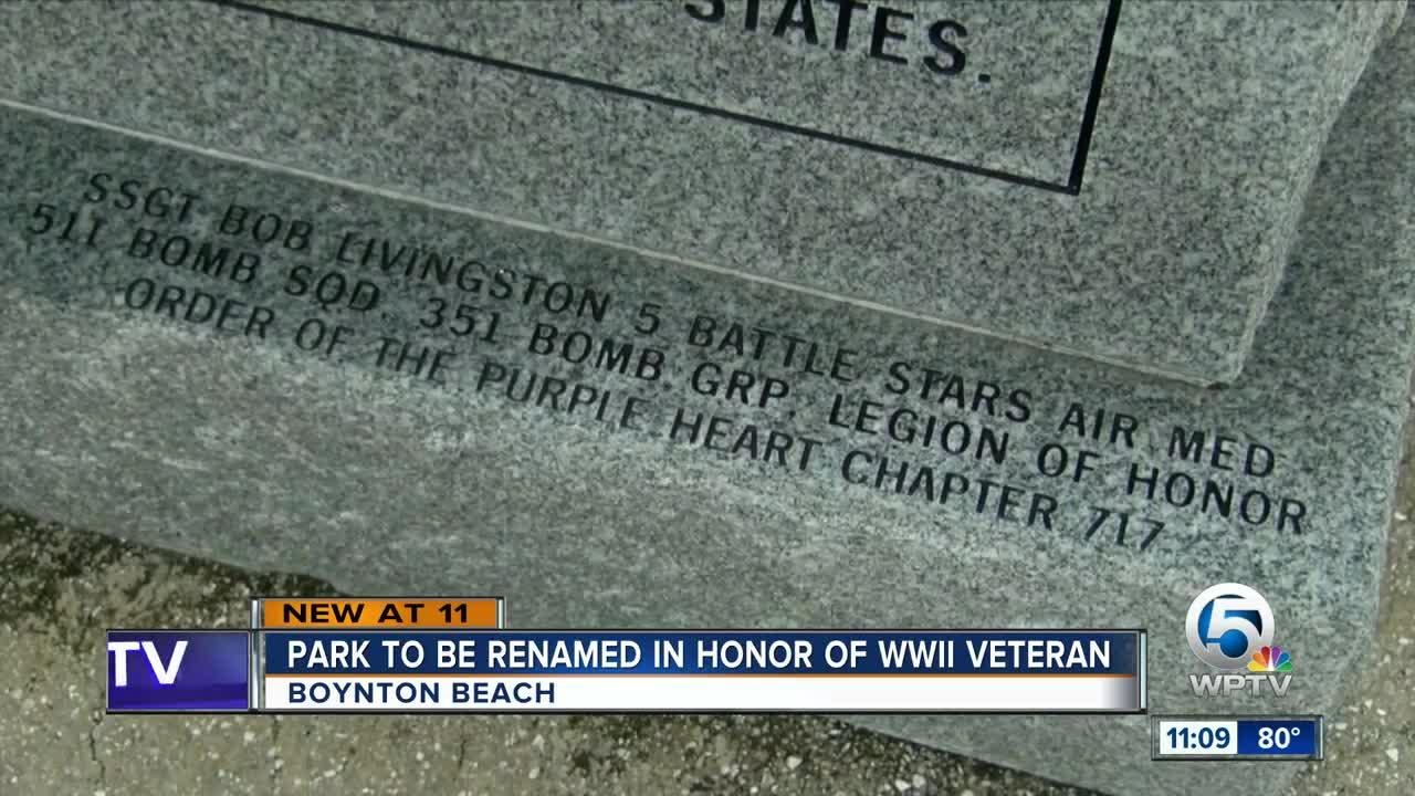 Boynton Beach park to be renamed in honor of WWII veteran