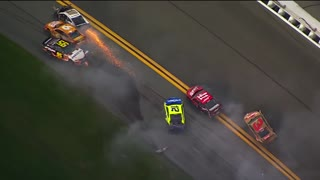 Massive Daytona 500 crash