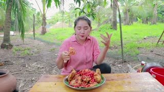 Amazing Chicken Wing Spicy Chili Eating Recipe - Tasty Chicken Wing Eating - Cooking With Sros