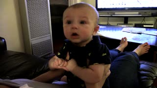 Tiny little baby let's out the most epic fart ever