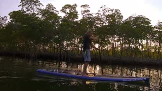 SUP paddling around Pine Island, Florida