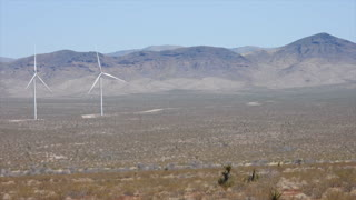 A visit to The White Hills wind farm in Arizona on April 4, 2021.