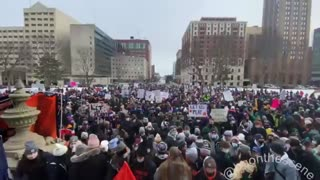 Thousands of students rally at Michigan Capitol to protest sports ban