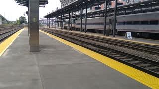 Amtrak Train at King St Station
