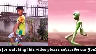 Allien vs human dance battle
