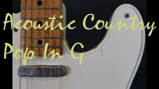 Acoustic Country Pop backing track in G