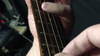Guitar Lesson - 4 finger pull off - 3 half steps