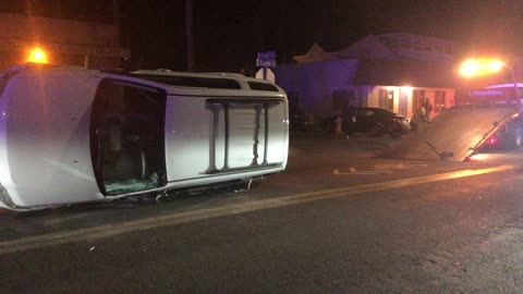 Drunk driver flips car in Ocean Beach, CA